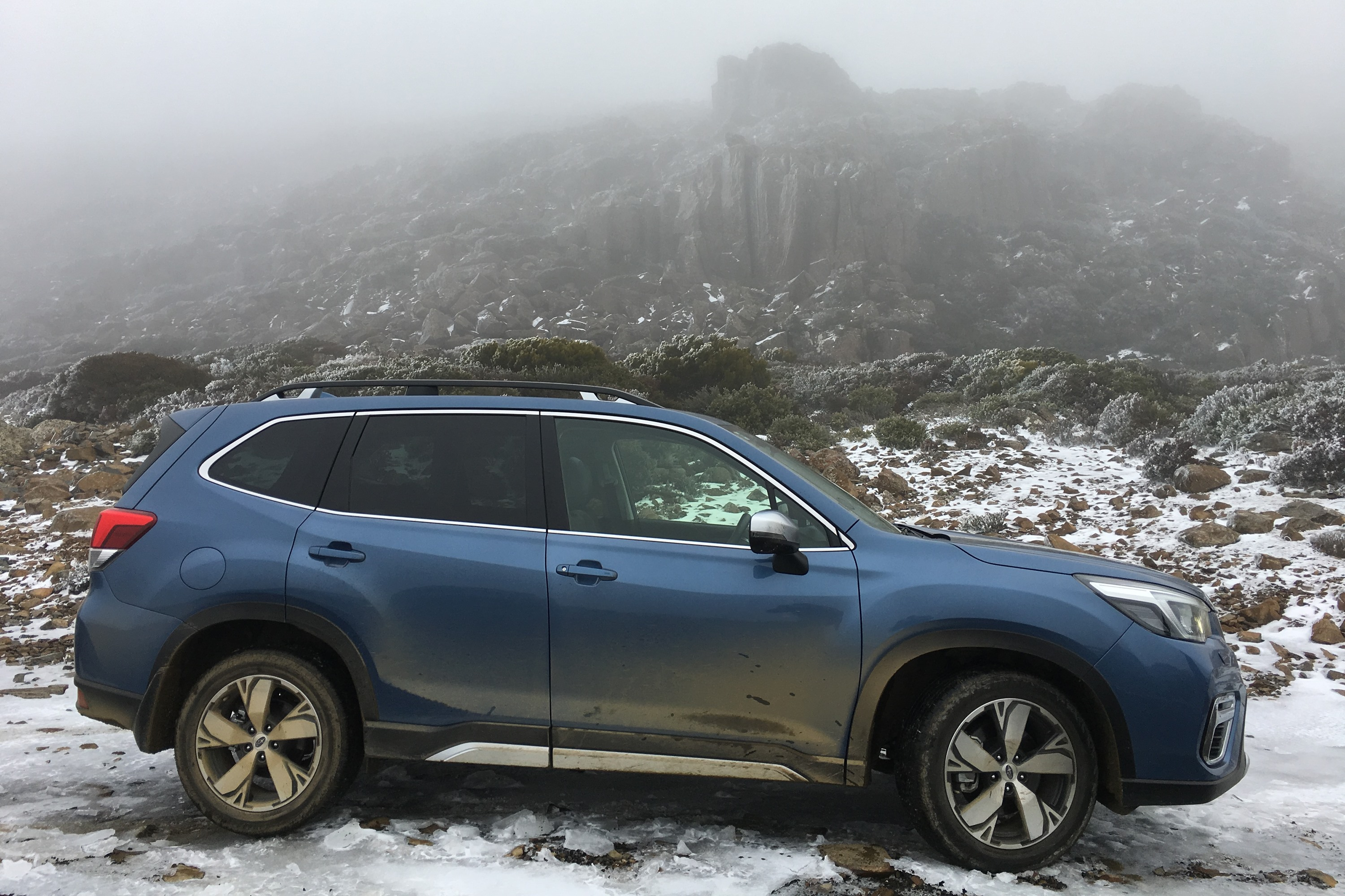 Subaru Forester on top of Jacobs Ladder