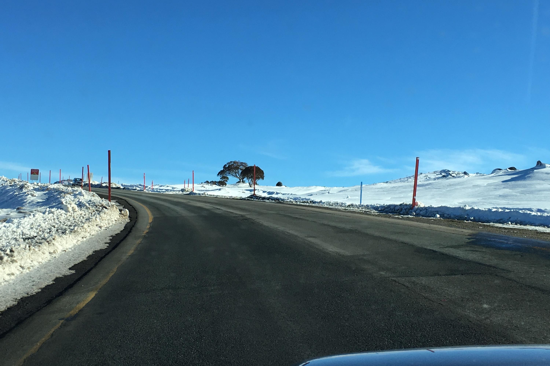 Perisher Trip drive to the resort