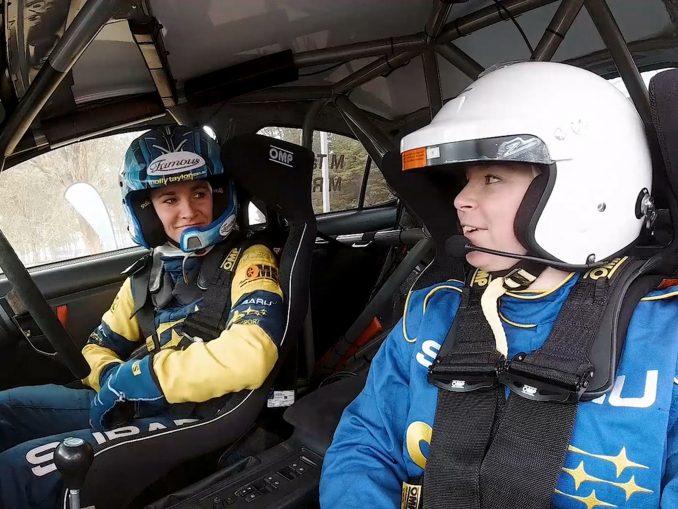 Subaru WRX STI Molly Taylor and Emily Middleton