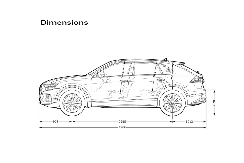 2020 Audi Q8 55 TFSI Quattro S-Line dimensions