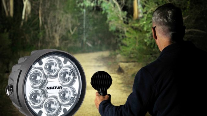 High quality and reliable lighting is a prerequisite for people involved in security and emergency service work, as well as recreational pursuits such as fishing, camping and hunting. Fortunately, Narva's new 'Colt 1000' L.E.D Handheld Spotlights have these activities covered, providing two model options, one corded and the second, battery-powered. These new lights are the modern successor to Narva's popular 'Colt 100' handheld halogen spotlight.