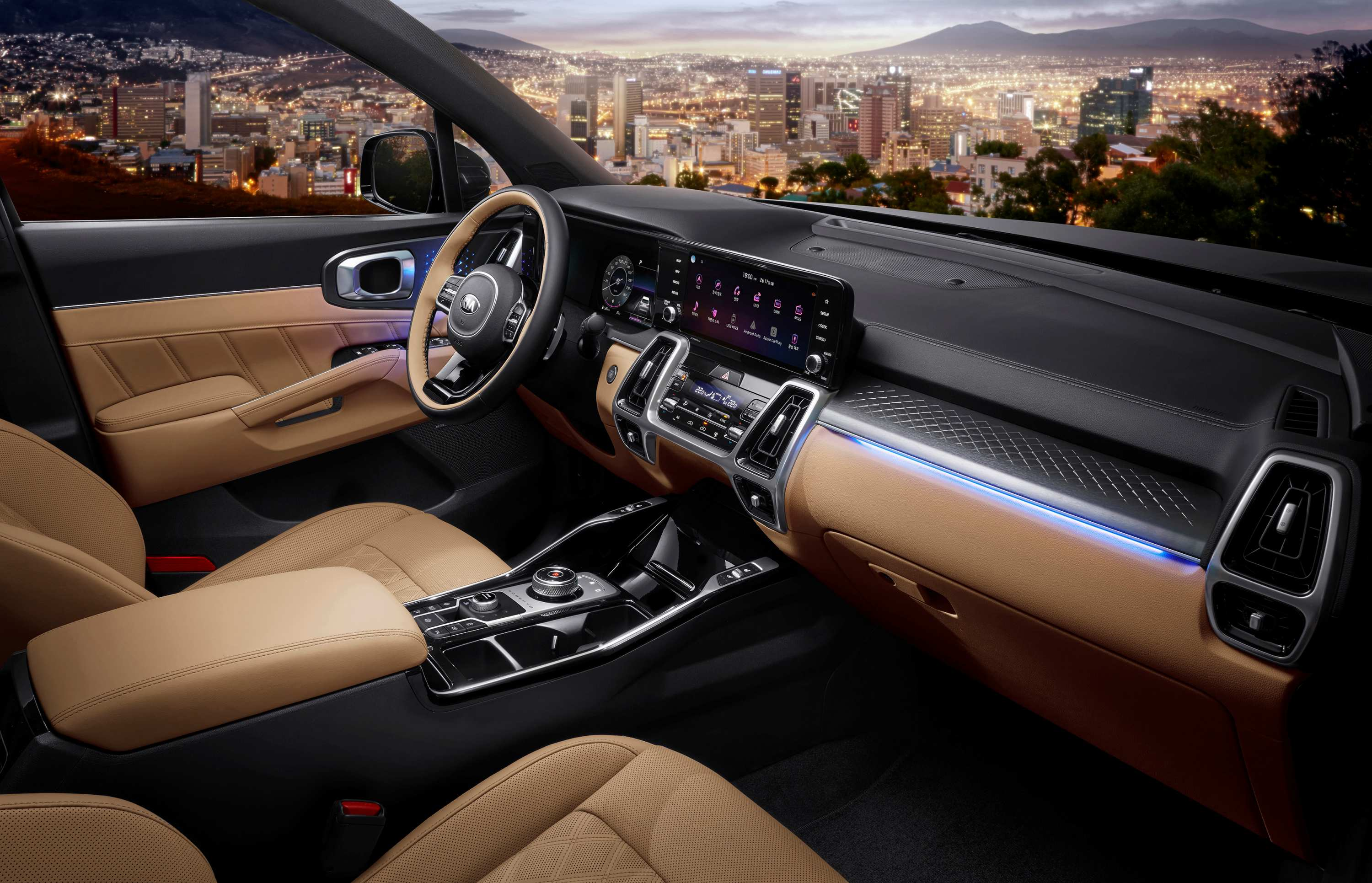 2020 New Kia Sorento interior