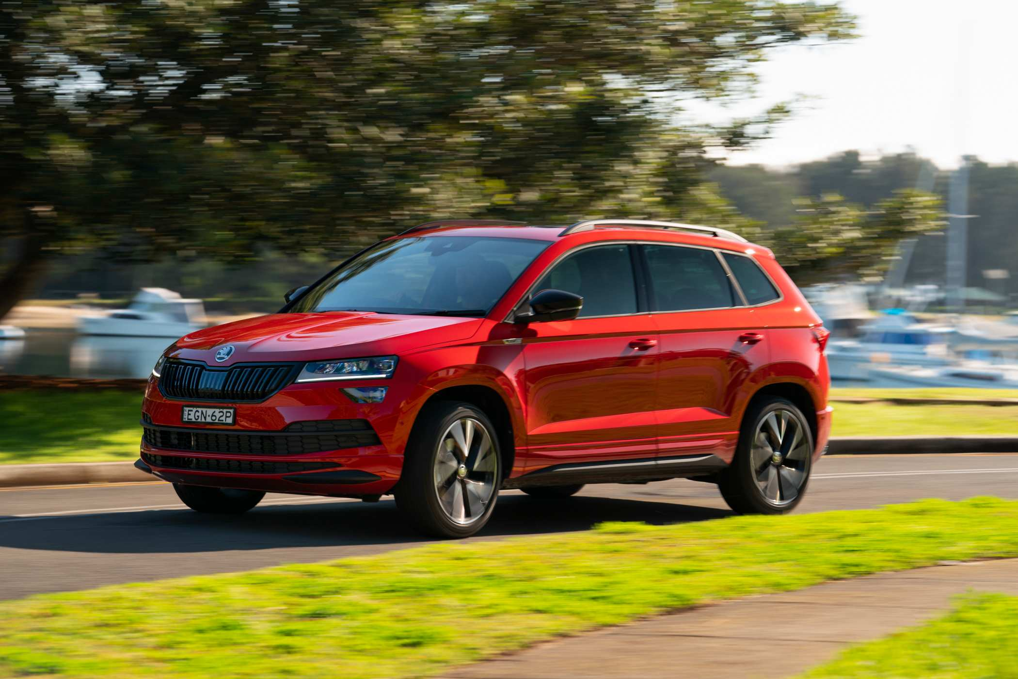 Powered by the Volkswagen Group's 2.0-litre turbo petrol EA888, the Sportline puts 140kW and 320Nm to the road via a 7-speed DQ381 DSG transmission and all-wheel-drive. Drive Mode Select is standard.