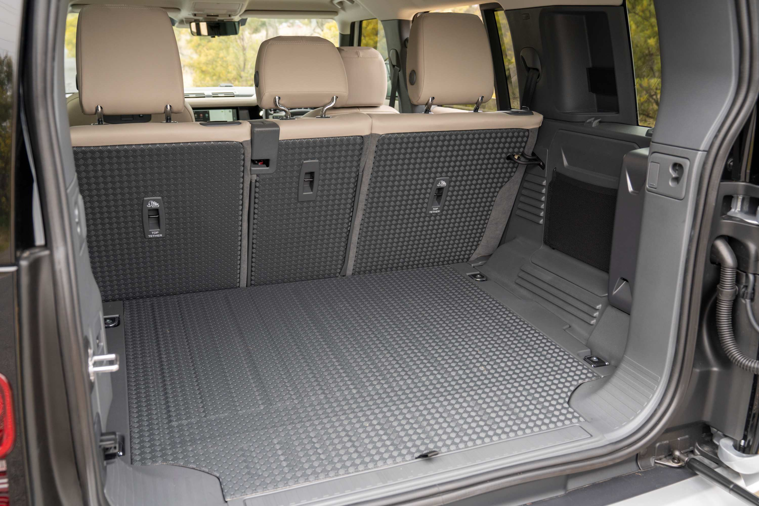 Land Rover Defender boot area