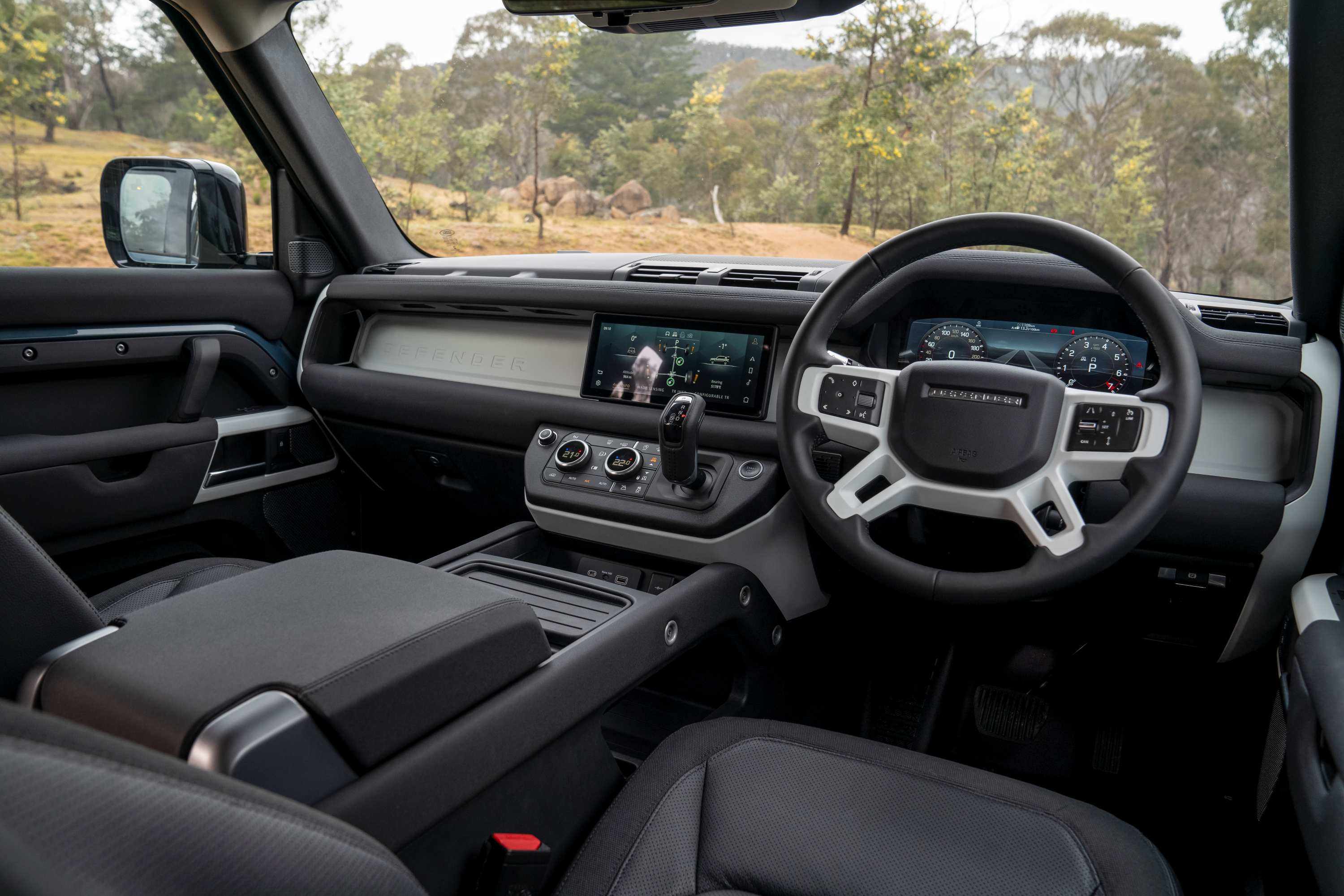 Land Rover Defender interior