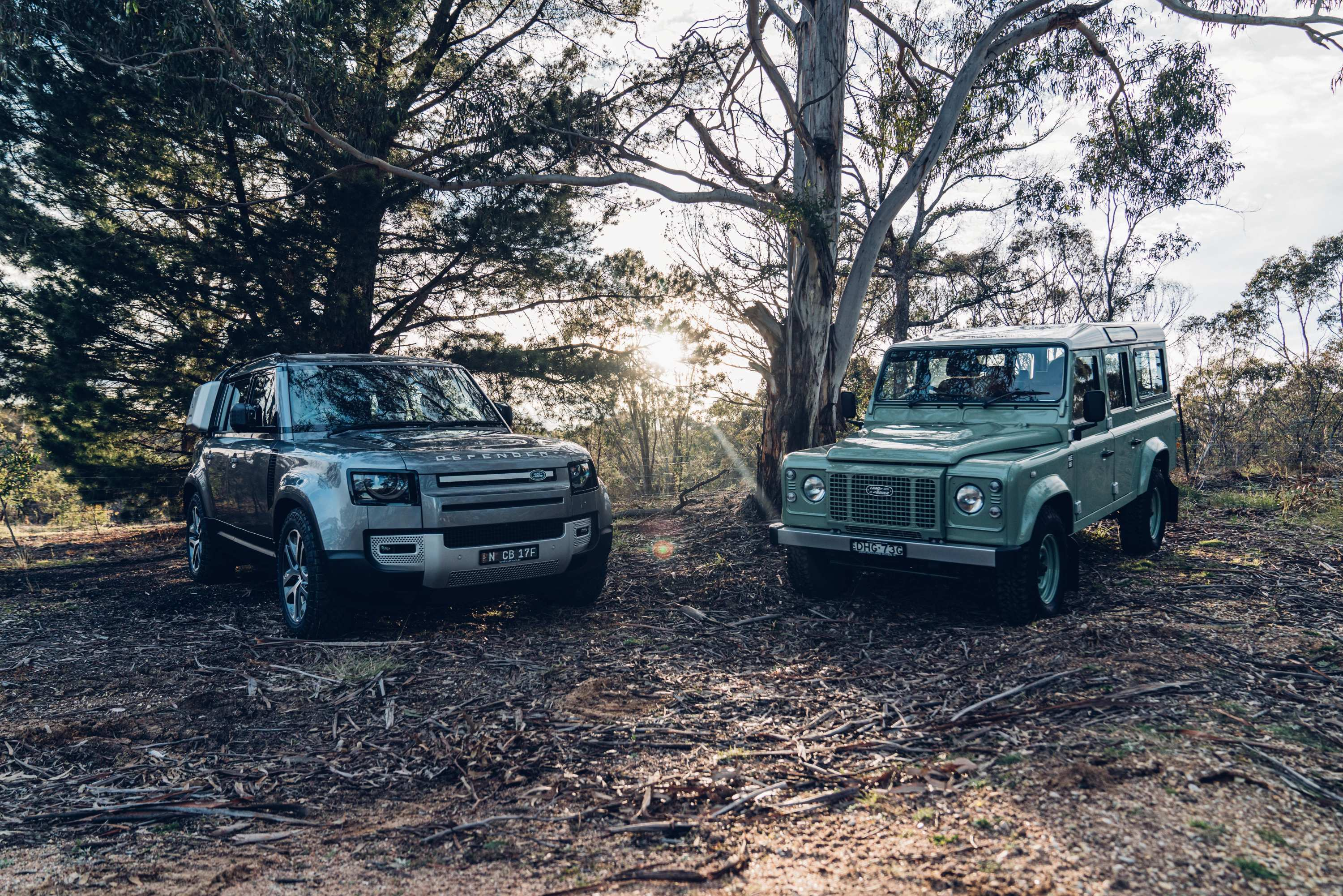 Land Rover Defender new and old 2