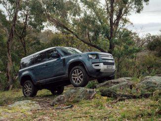 Land Rover Defender posing