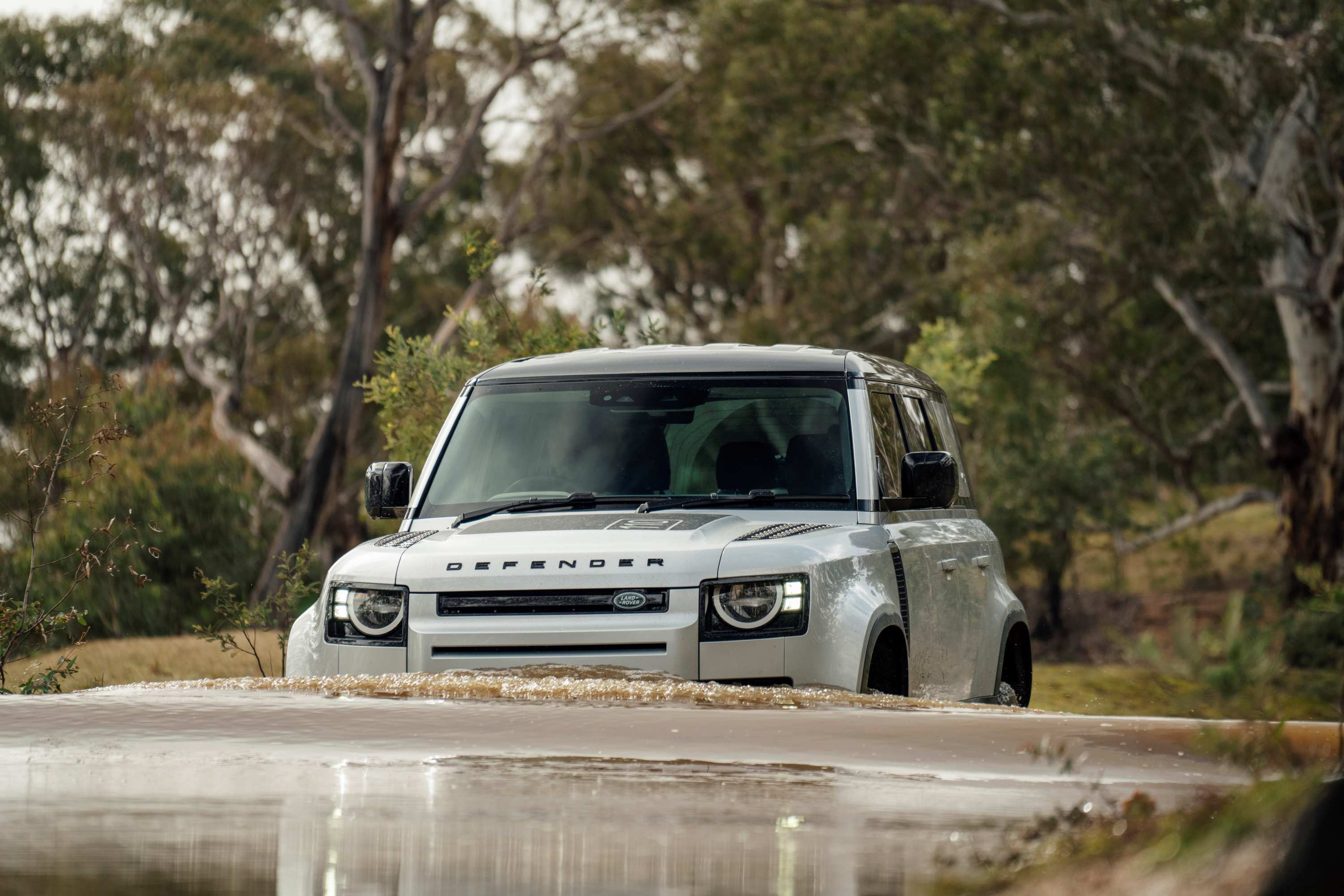 Land Rover Defender wading