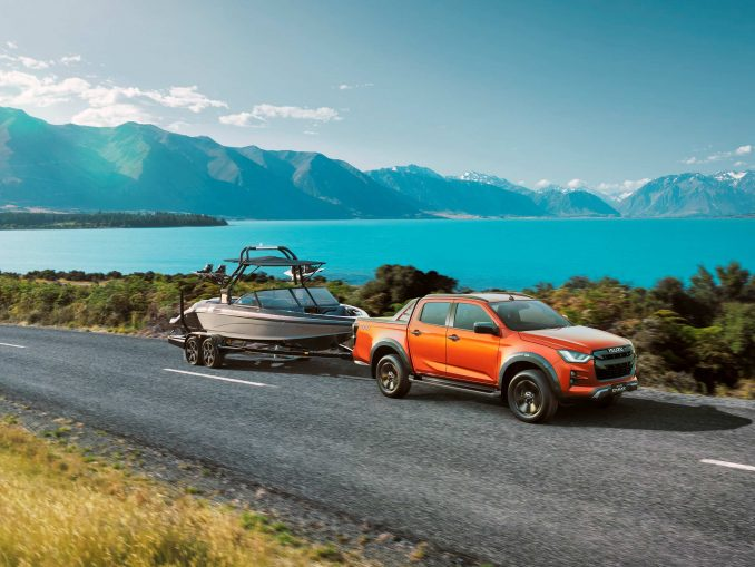 Isuzu D-MAX 21MY Towing the Line with Boat 4x4 X-TERRAIN Volcanic Amber