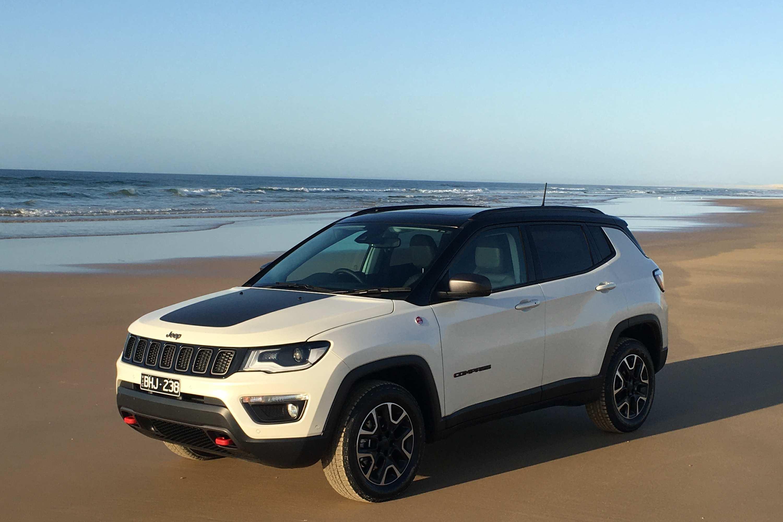 2020 Jeep Compass Trailhawk beach 2