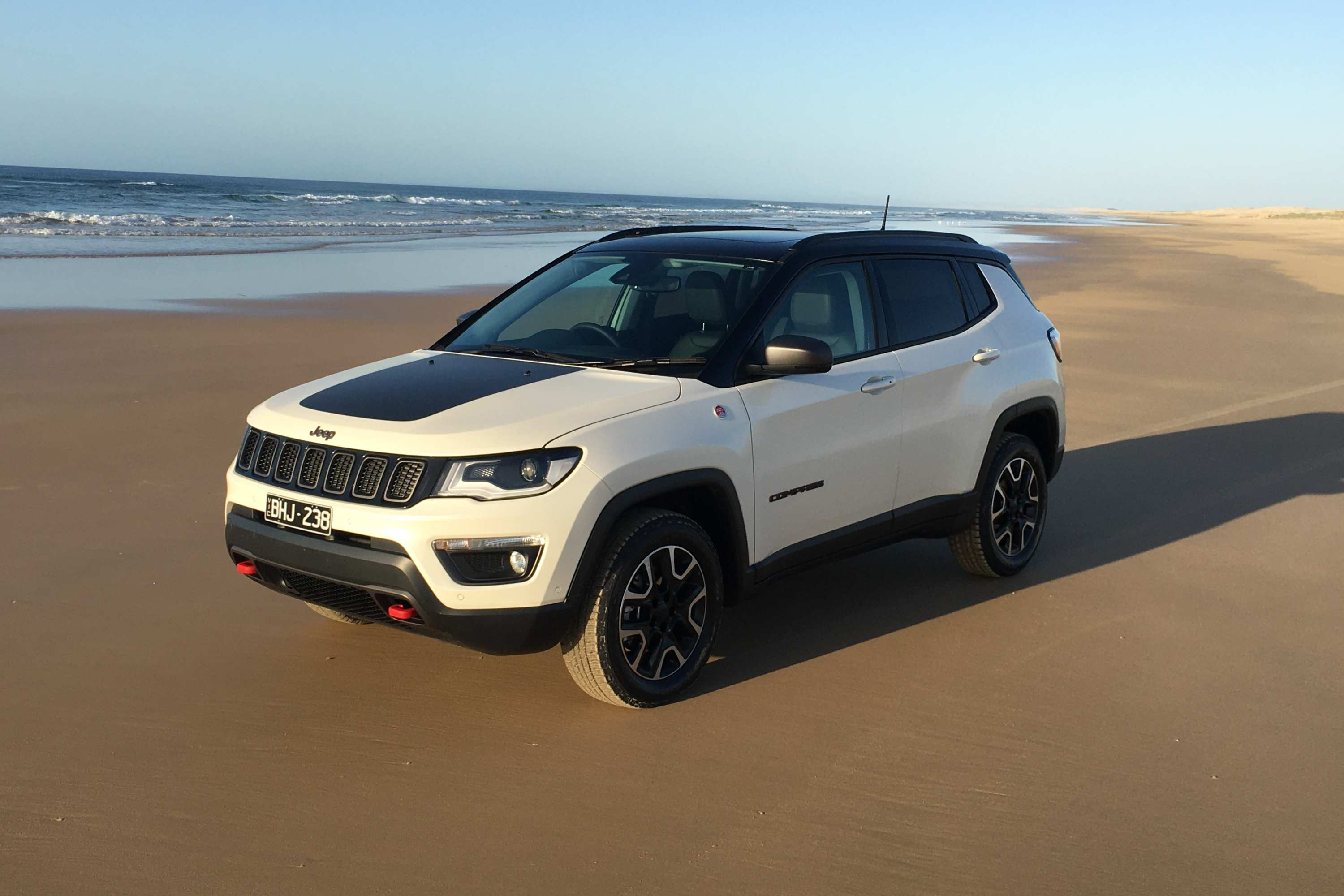 2020 Jeep Compass Trailhawk beach