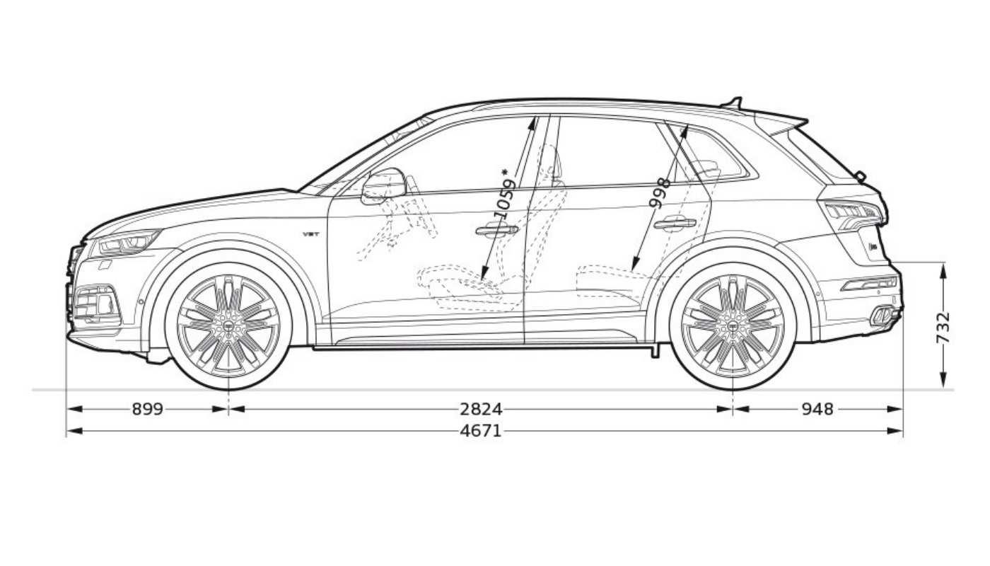 Audi SQ5 TDI diensions 2
