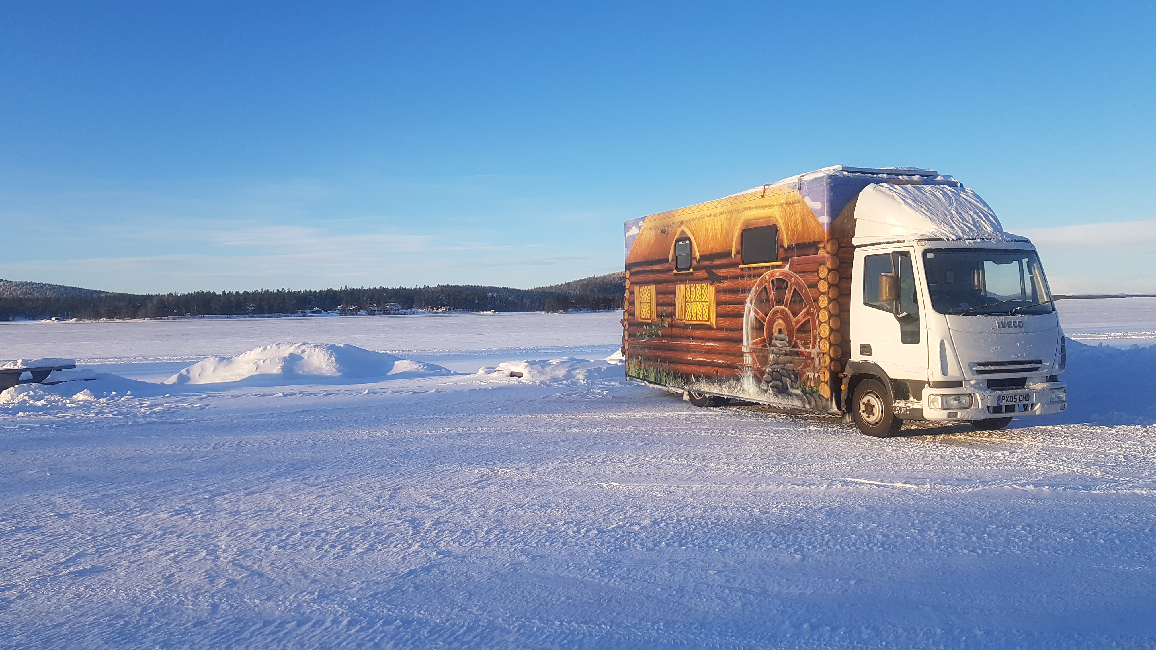 Falken's highway RI151 and BI851 tyres have helped customer Kevin Hancock and his Iveco campervan – converted from a former life as a mobile police office – make an incredible journey from Swansea, Wales all the way to the Arctic Circle, with temperatures reaching a low as -27 degrees Celsius.