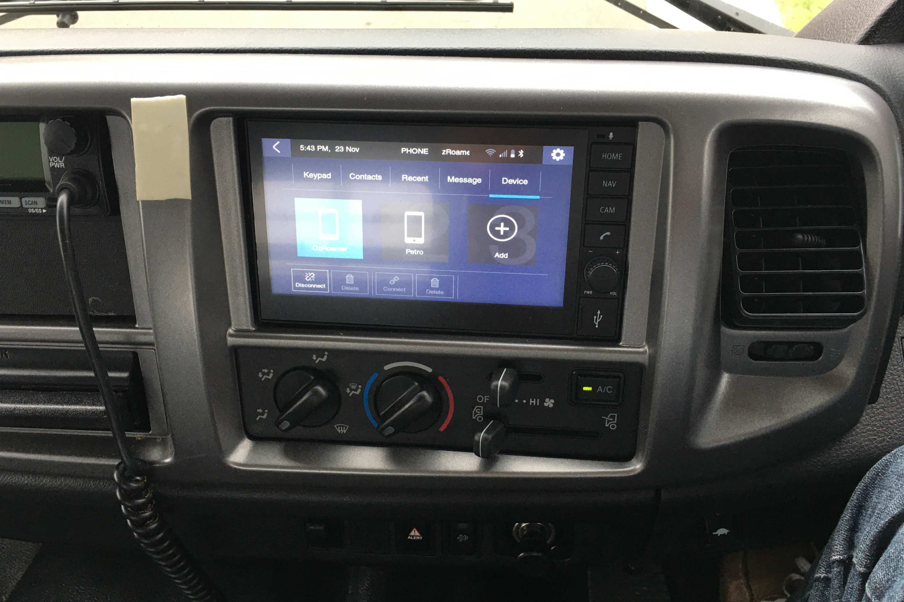 HINO 500 Series 1528 4X4 GT front dash