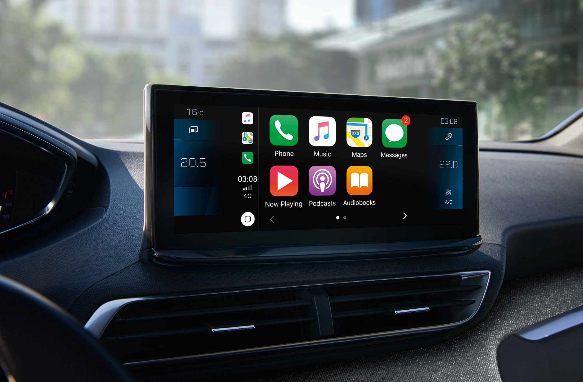 Peugeot 3008 10inch Touchscreen (overseas model shown).