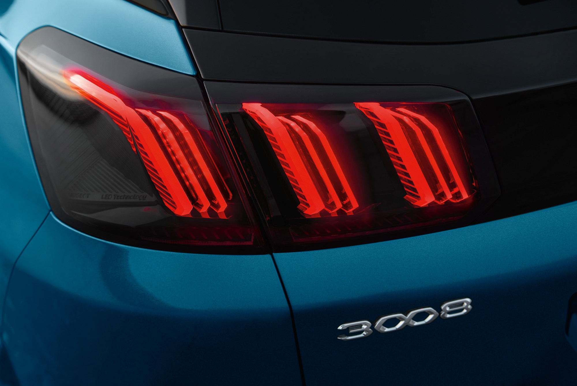Peugeot 3008 Rear LED Lights with 3D Lion Claw Design (overseas model shown).