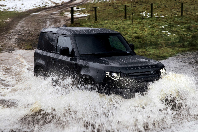 2021 Land Rover Defender V8 water crossing