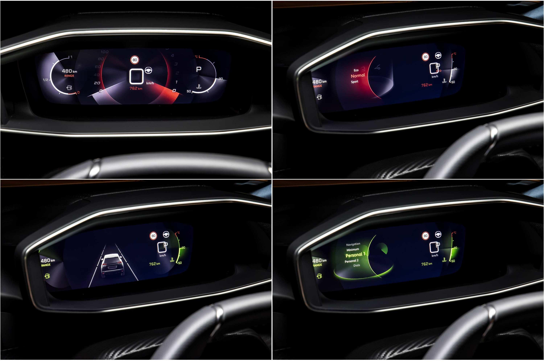 2021 Peugeot 2008 GT Sport instrument binnacle compilation