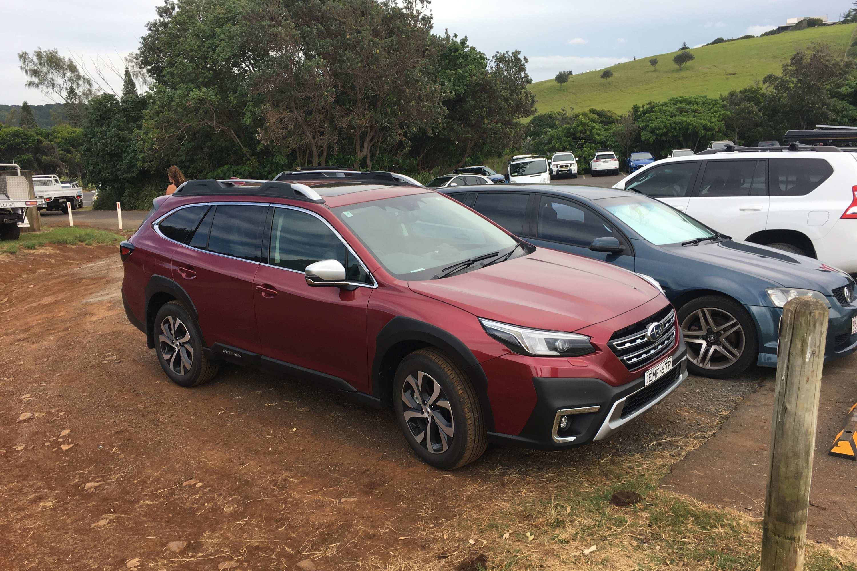 2021 Subaru Outback Touring Byron Bay trip Outback at Lennox Head