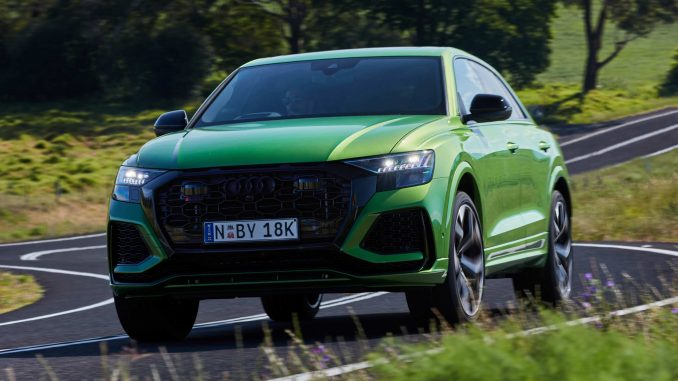 RS Q8 with a thundering 441kW/800Nm 4.0-litre twin-turbo TFSI V8 engine