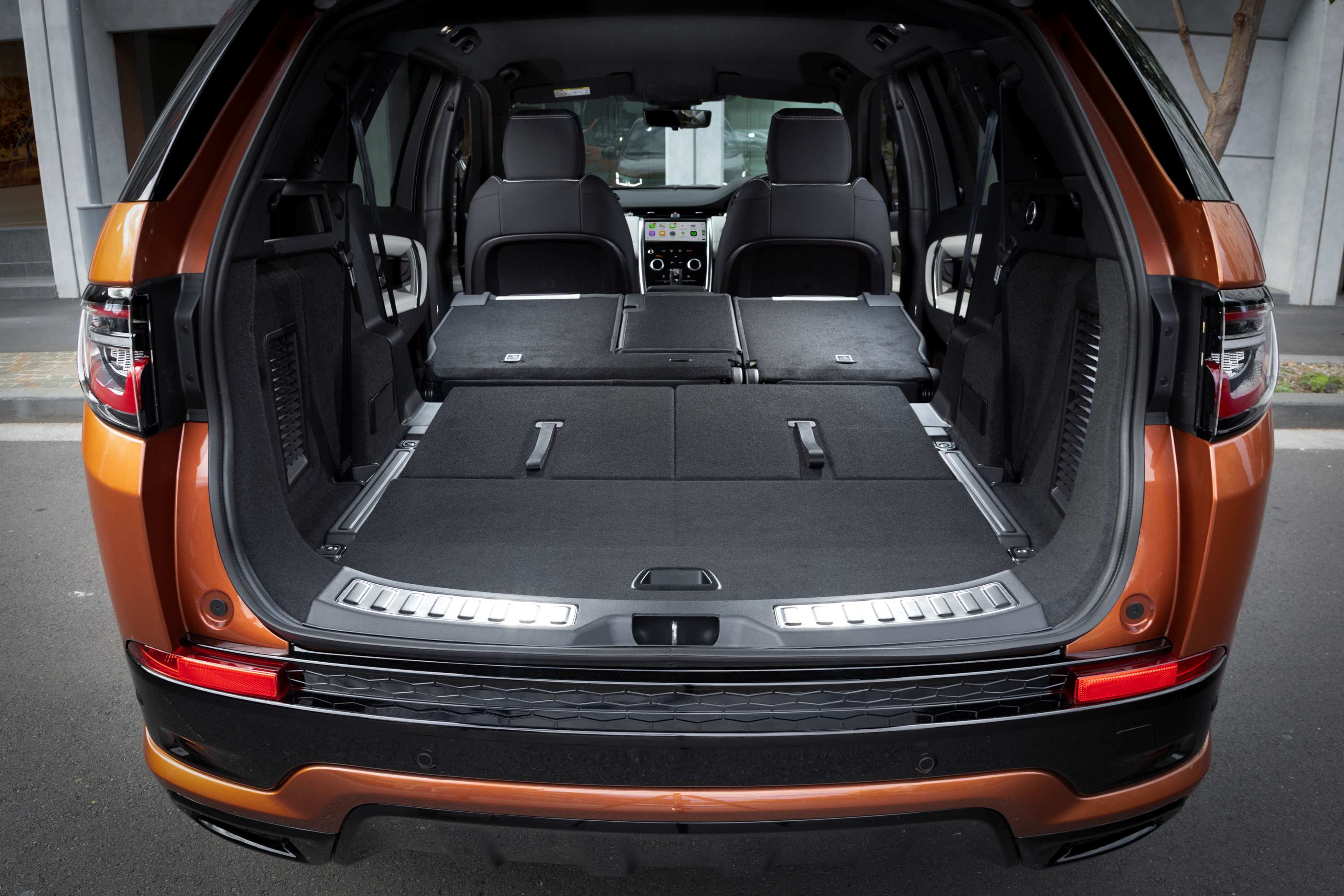 2021 Land Rover Discovery Sport R-Dynamic SE interior boot seats flat