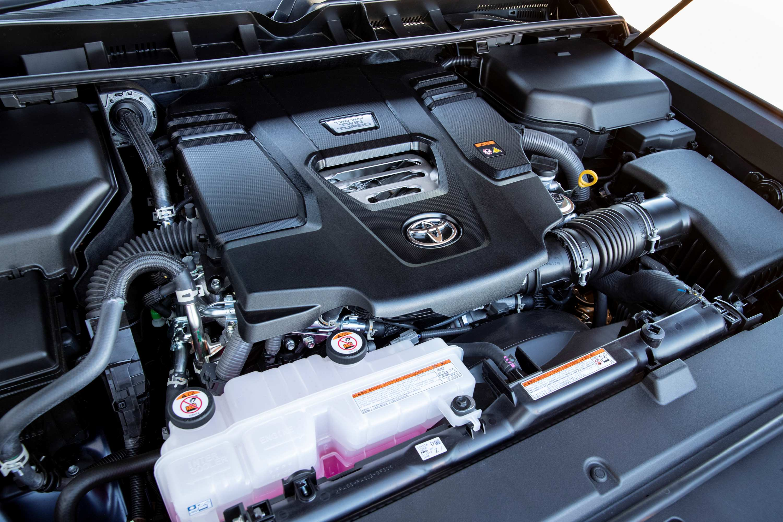 2021 Toyota LandCruiser 300 Series V6 twin turbo diesel engine.