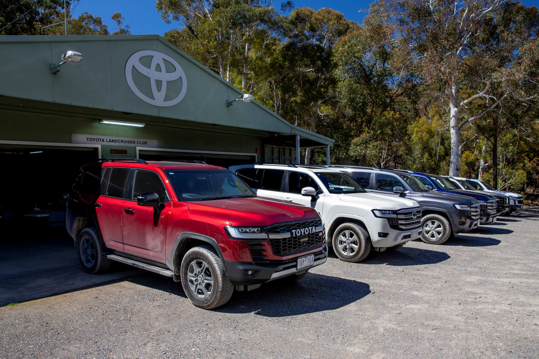 Toyota LandCruiser 300 series launch exterior