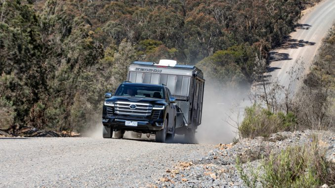 Toyota LandCruiser 300 series launch towing with Sahara ZX 1