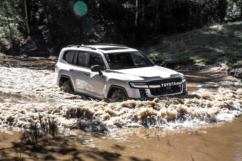 Toyota LandCruiser 300 series launch water crossing